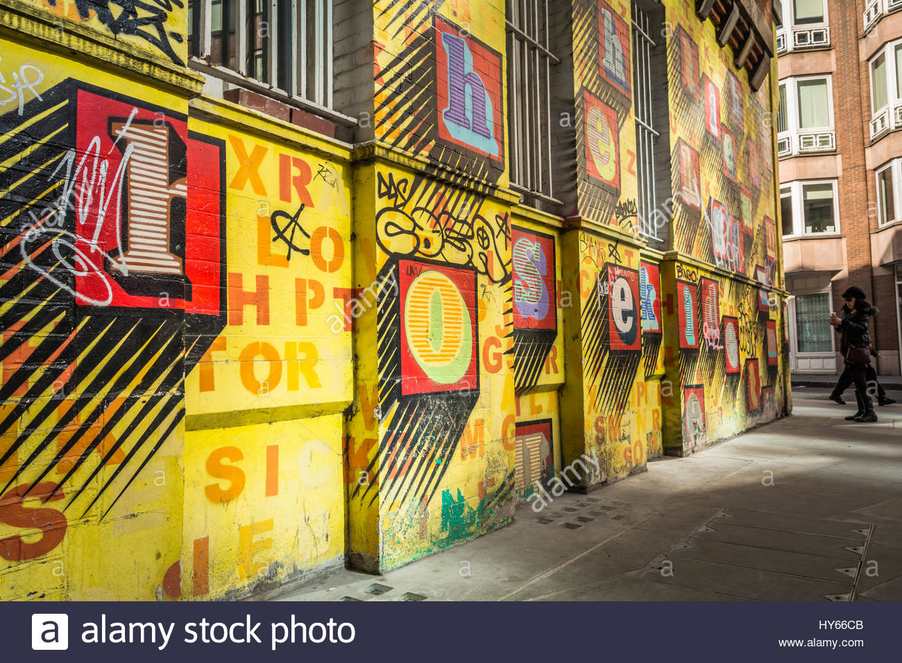 Alphabet House\', Street art by artist, Ben Eine - colourful alphabet ...