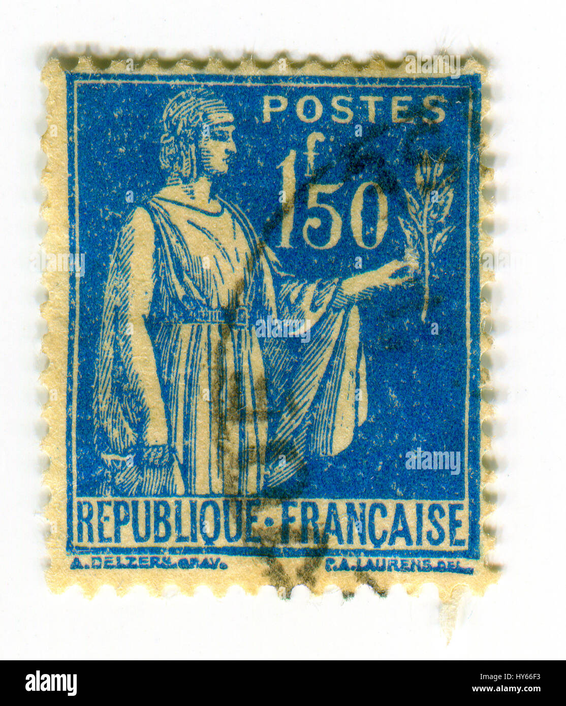GOMEL, BELARUS, 2 APRIL 2017, Stamp printed in France shows image of the Ceres was a goddess of agriculture, grain - Stock Image