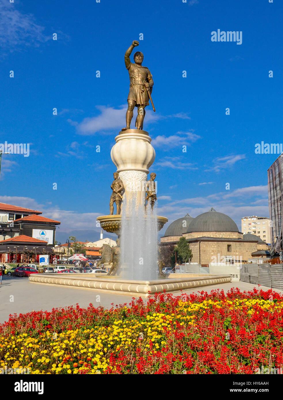 Skopje, Macedonia - Philip II of Macedon - Stock Image