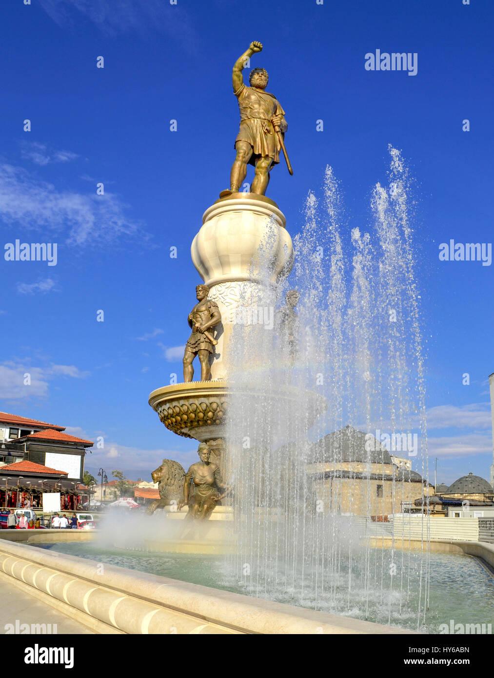Philip II of Macedon, Skopje, Macedonia - Stock Image