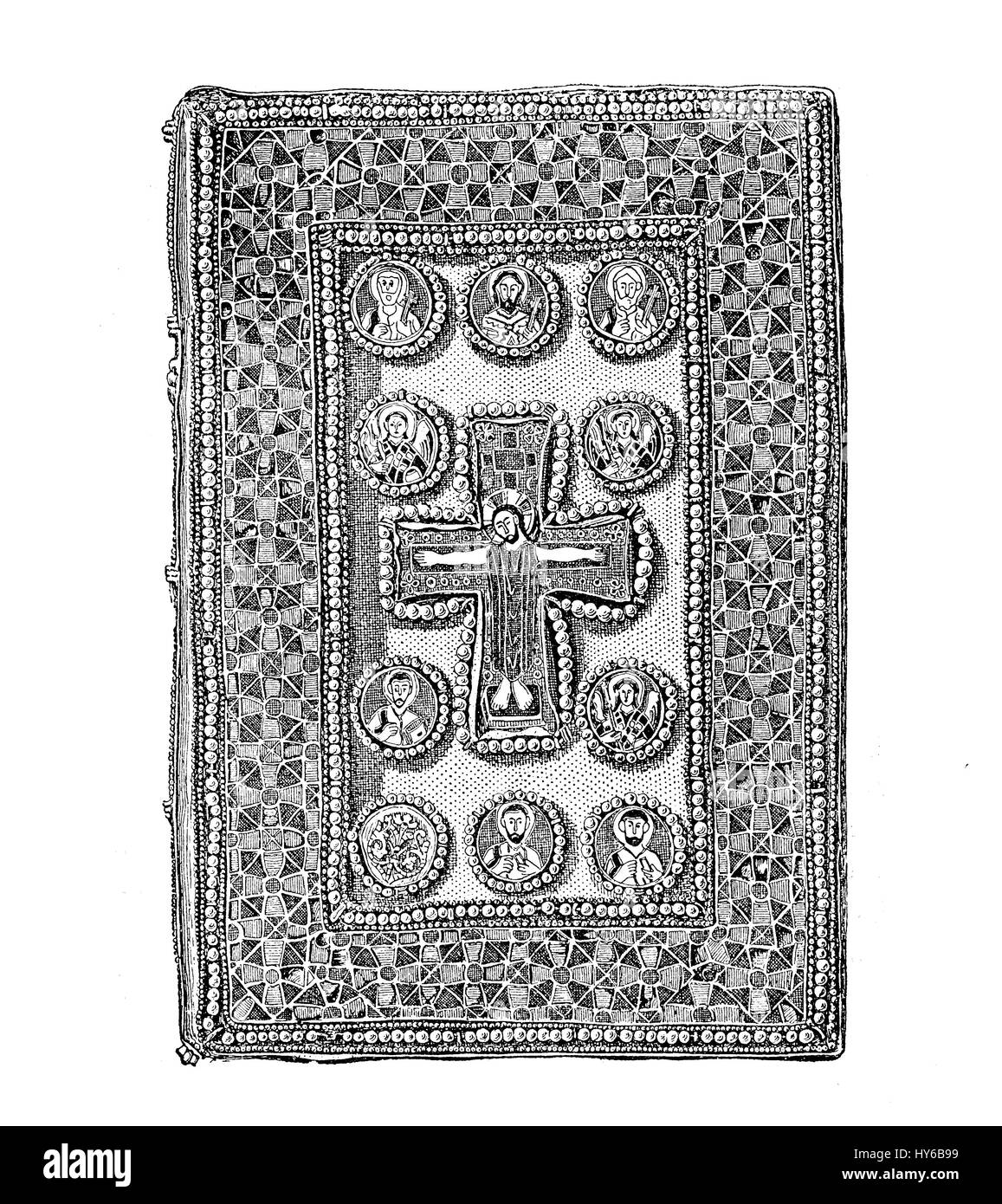 Byzantine jewelled bookbinding, medieval religious book