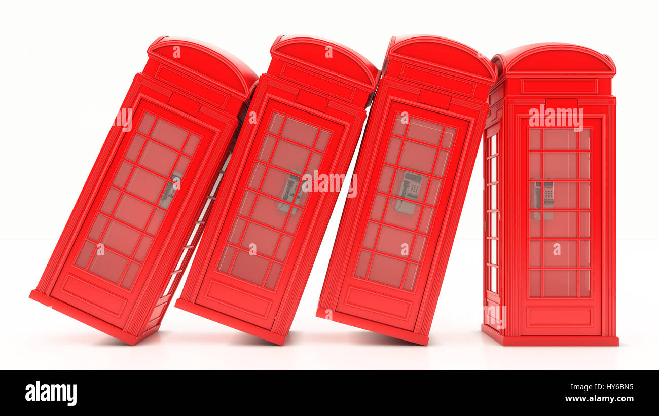 British Phone Booth in London - Stock Image