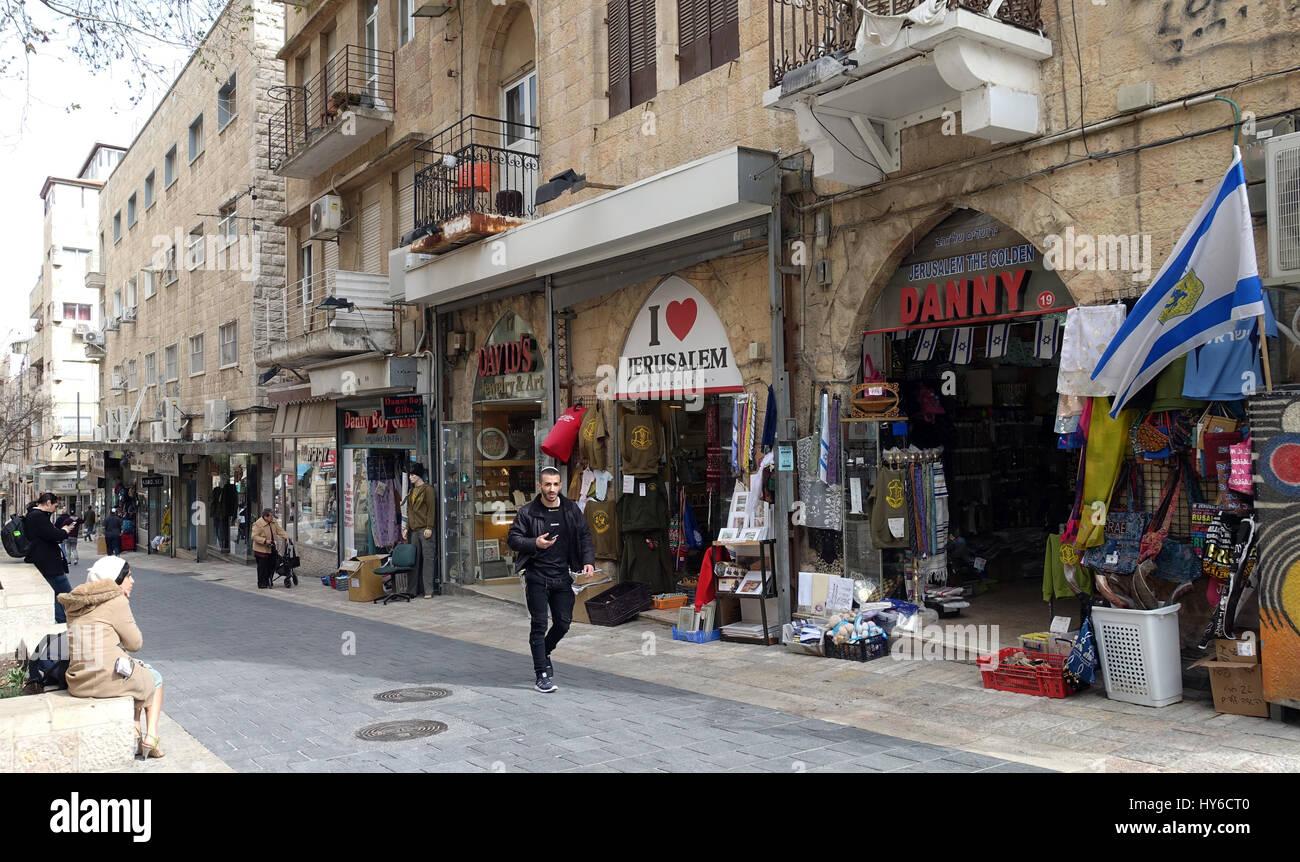 Ben Yehuda Street Tel Aviv Israel Stock Photo Alamy