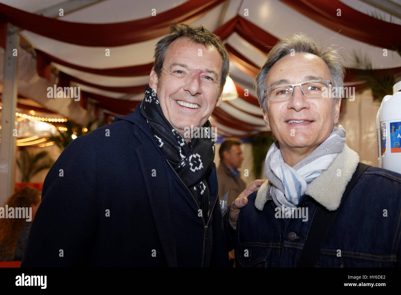 Jean-Luc Reichmann and Laurent Petitguillaume  attend at Opening evening of the Throne Fair for the benefit of the Stock Photo
