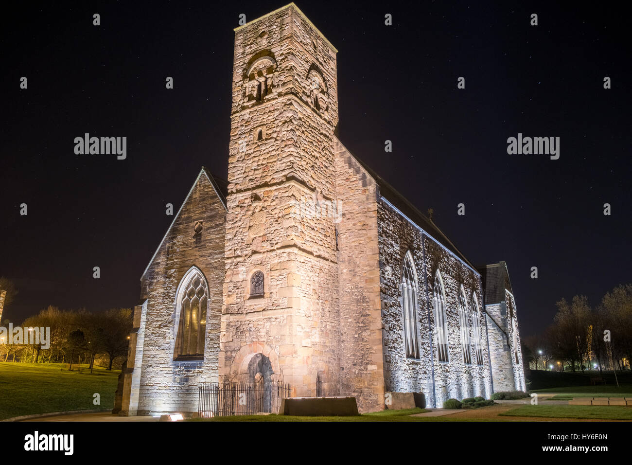 St Peter's Church, Monkwearmouth - Stock Image