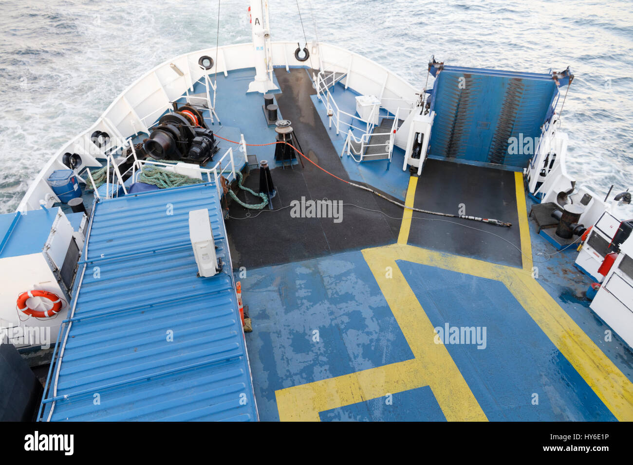 Ferry between Helsingborg, Sweden, and Helsingør, Denmark - Stock Image