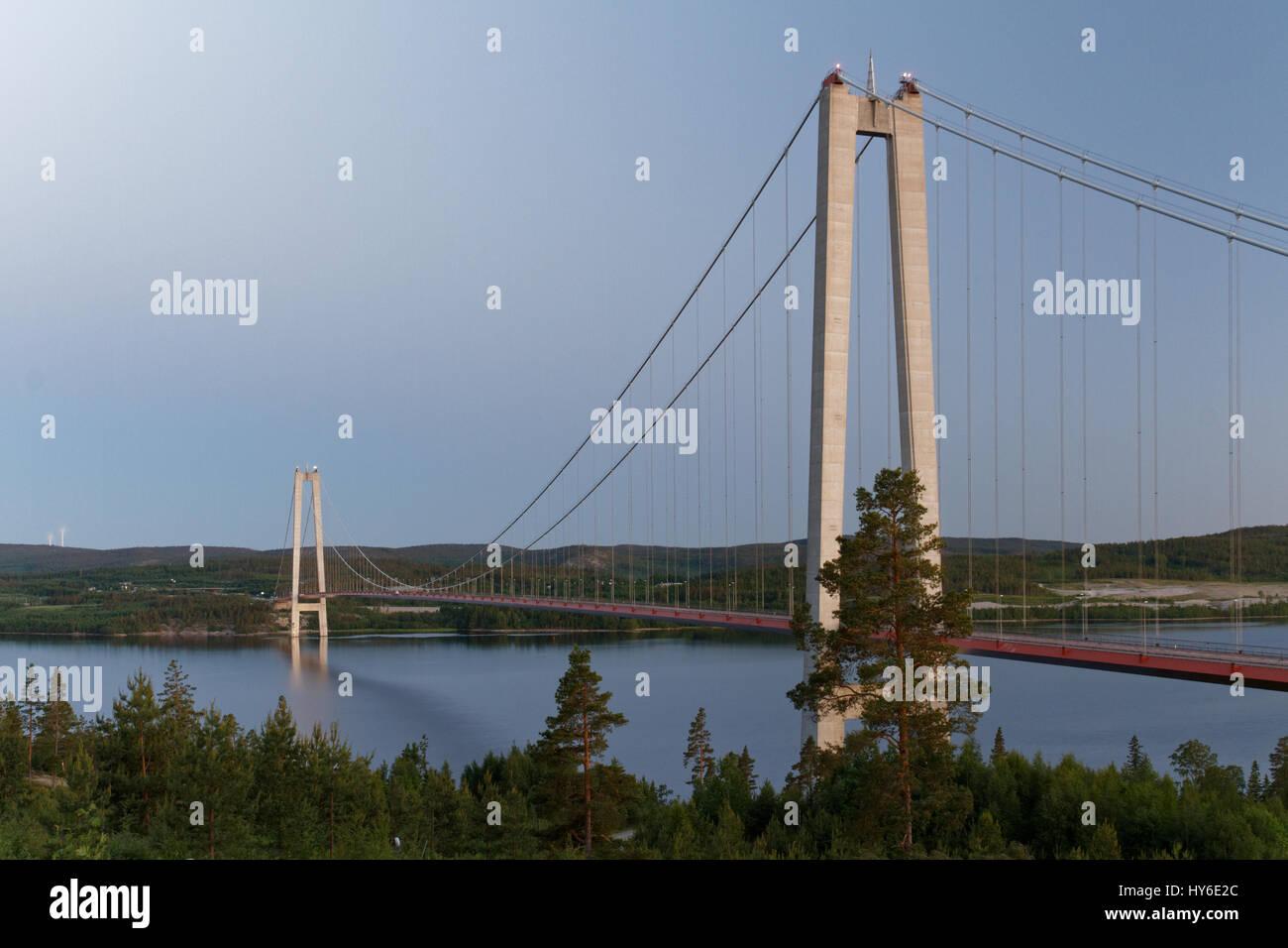 Bridge in Höga Kusten, Sweden - Stock Image