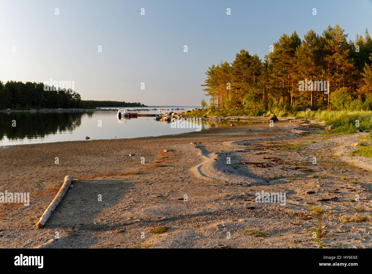 Beach view in the Swedish East Coast - Stock Image