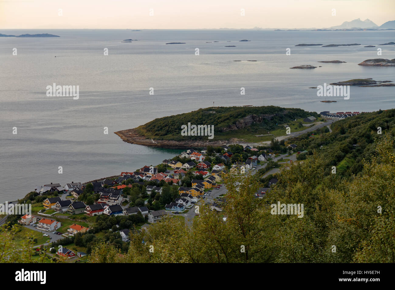 View over Löpsmarka, near Bodø, Norway - Stock Image