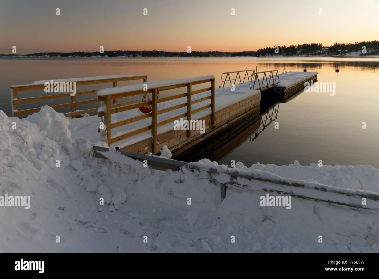 Winter in Österåker - Stock Image