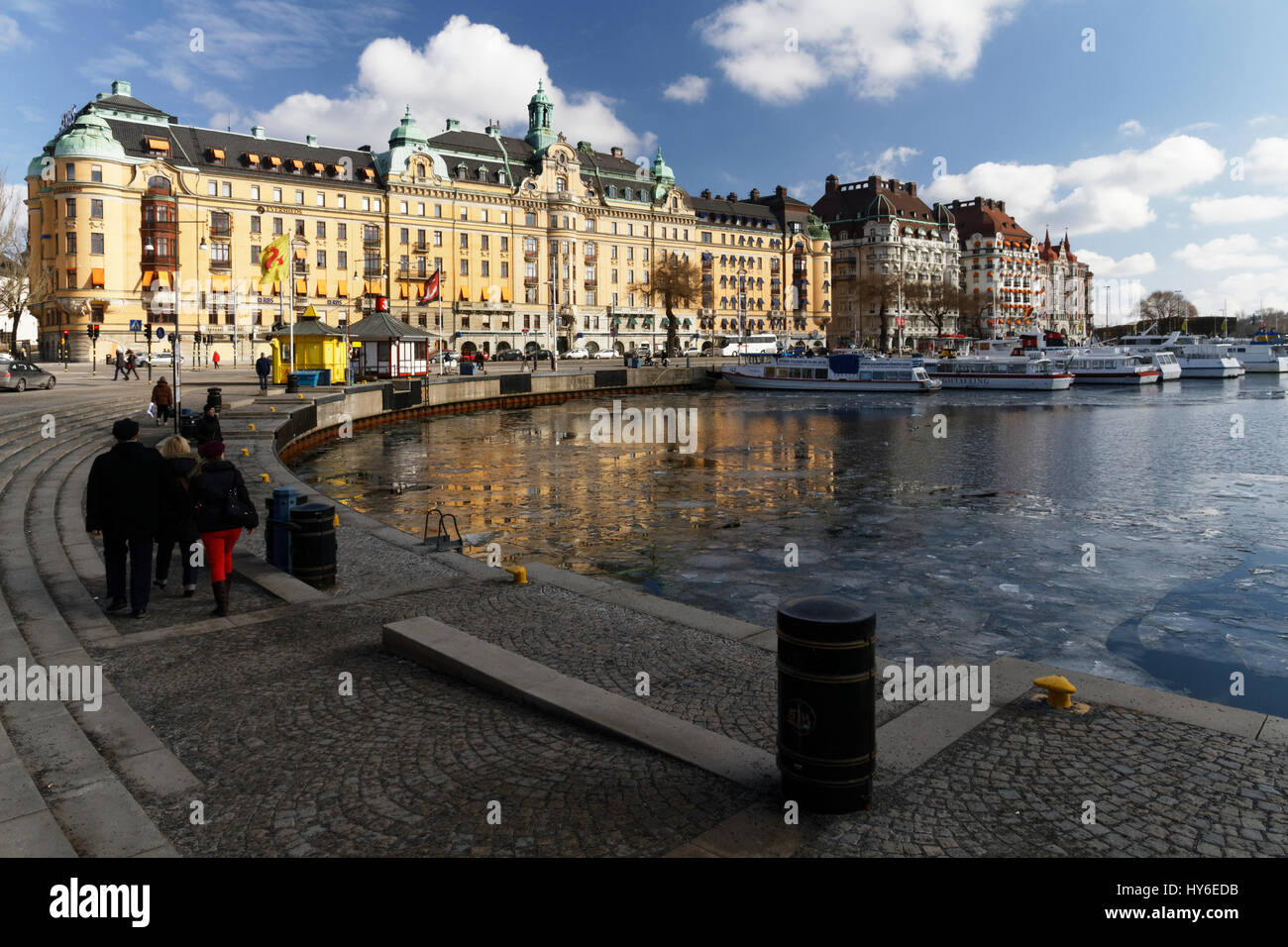 View of Nybroviken from Nybrohamnen in Stockholm, Sweden - Stock Image