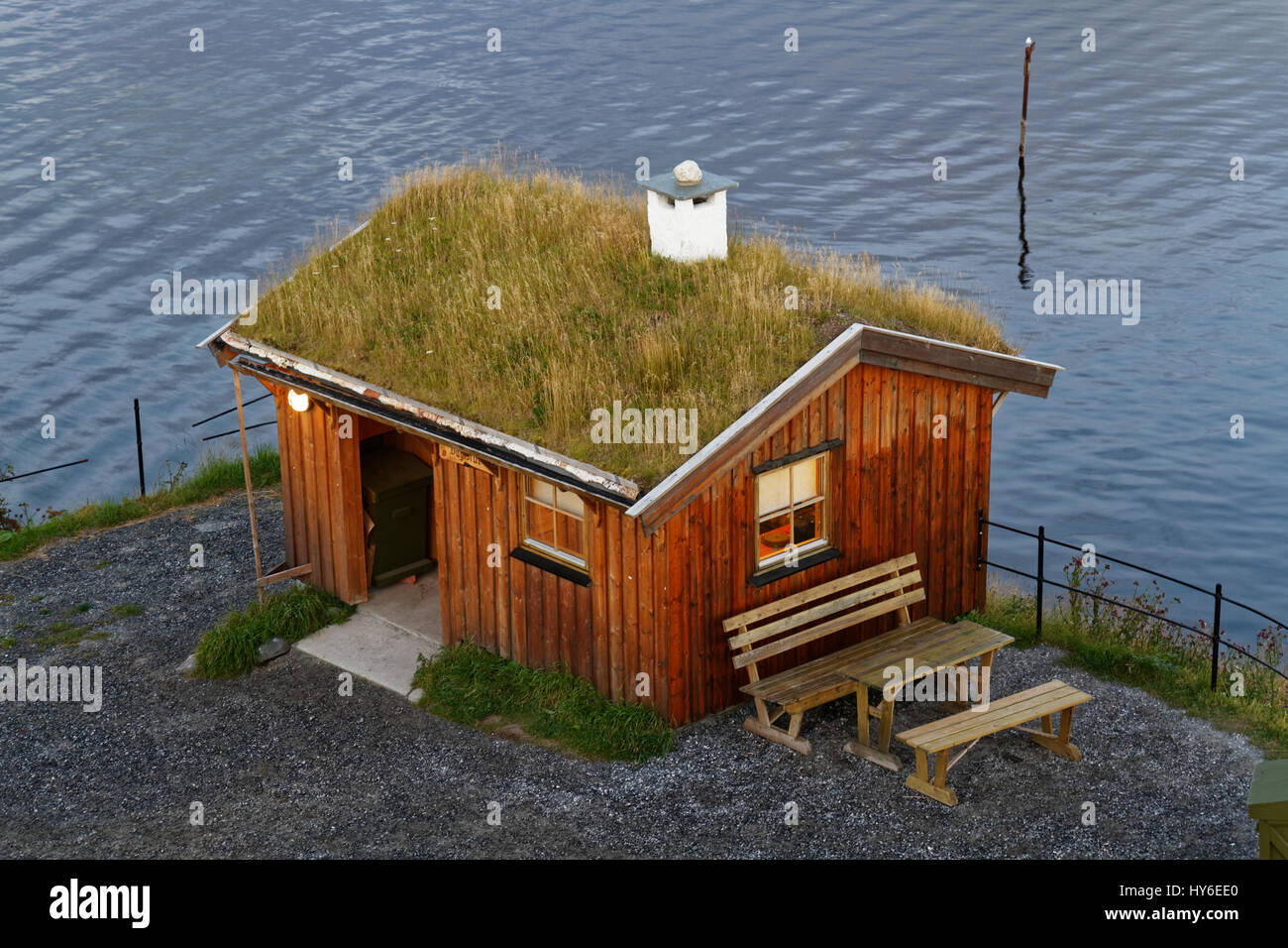 An old cottage in Bodø, Norway - Stock Image