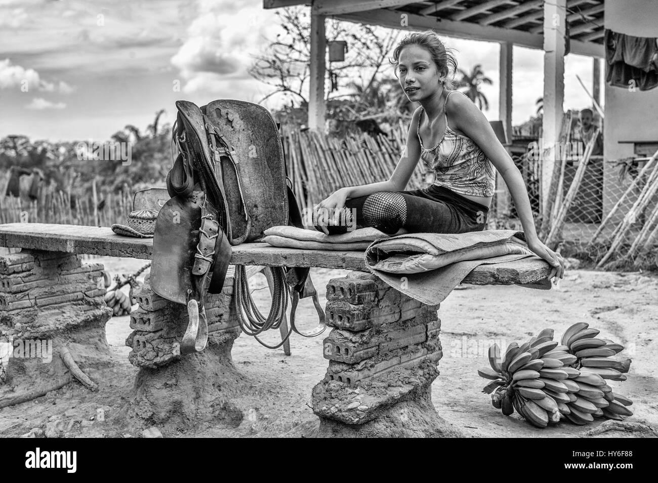 Sugar plantations in the Valle de los Ingenios near Trinidad, Cuba. - Stock Image