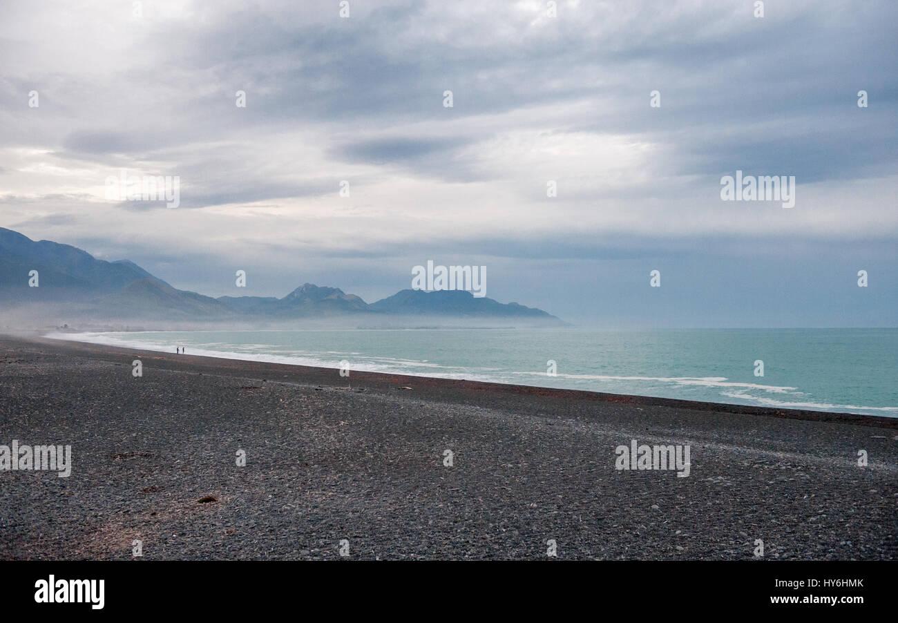 Dusk at Kaikoura, South Island, New Zealand - Stock Image