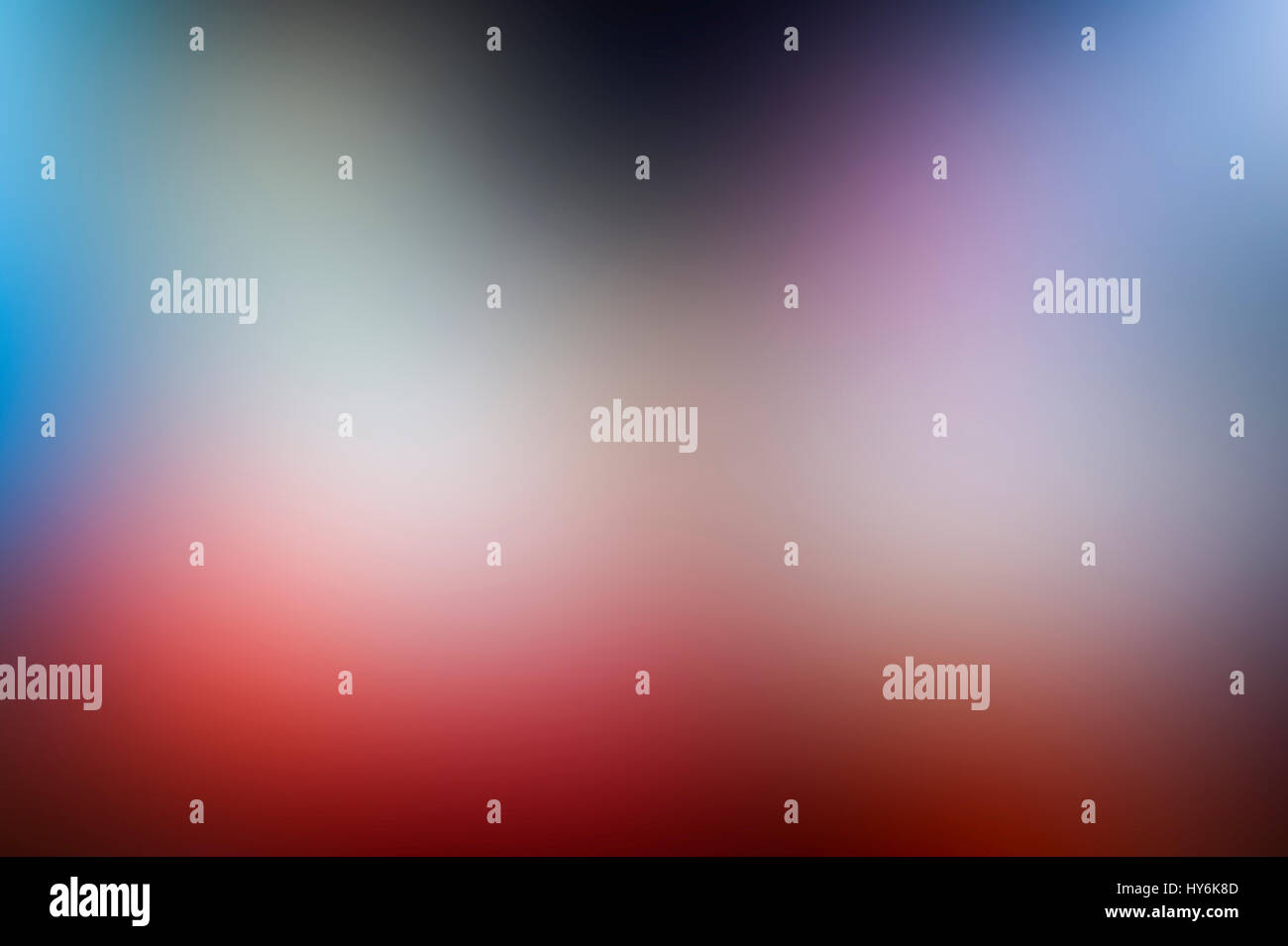 Abstract blurred gradient mesh background in bright rainbow colors. Colorful smooth banner template Stock Photo