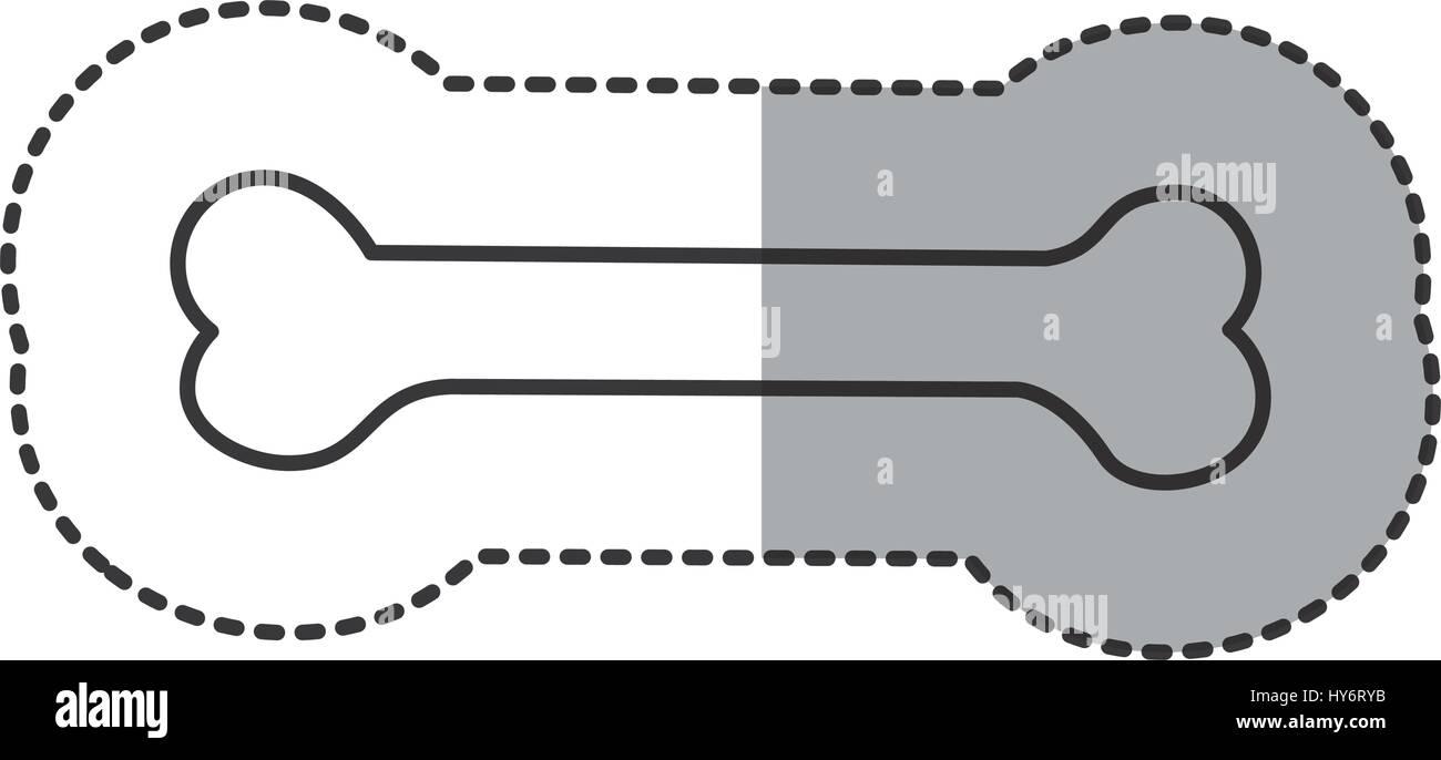sticker line dog bone - Stock Vector