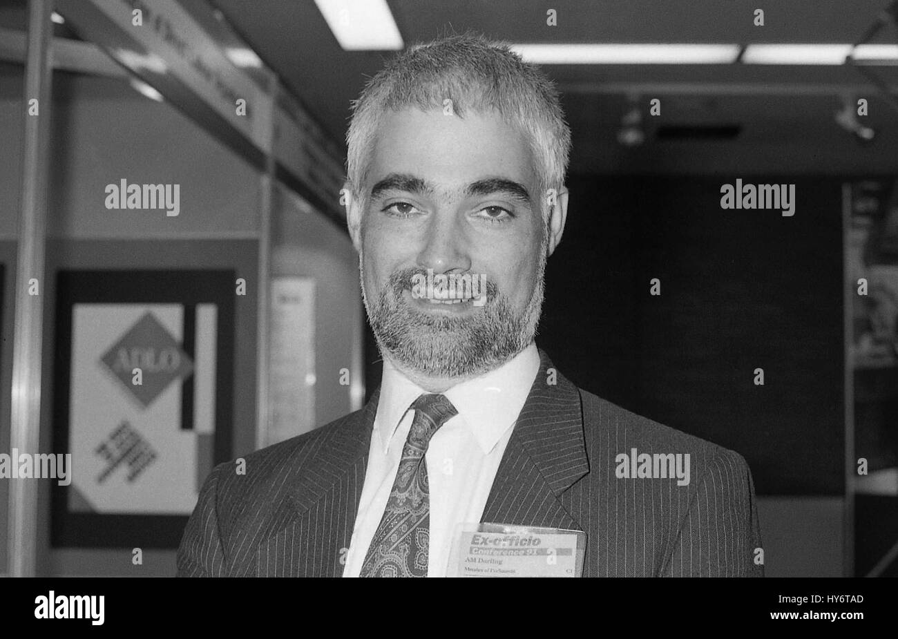 Alastair Darling, Labour party Member of Parliament for Edinburgh Central, attends the party conference in Brighton, - Stock Image