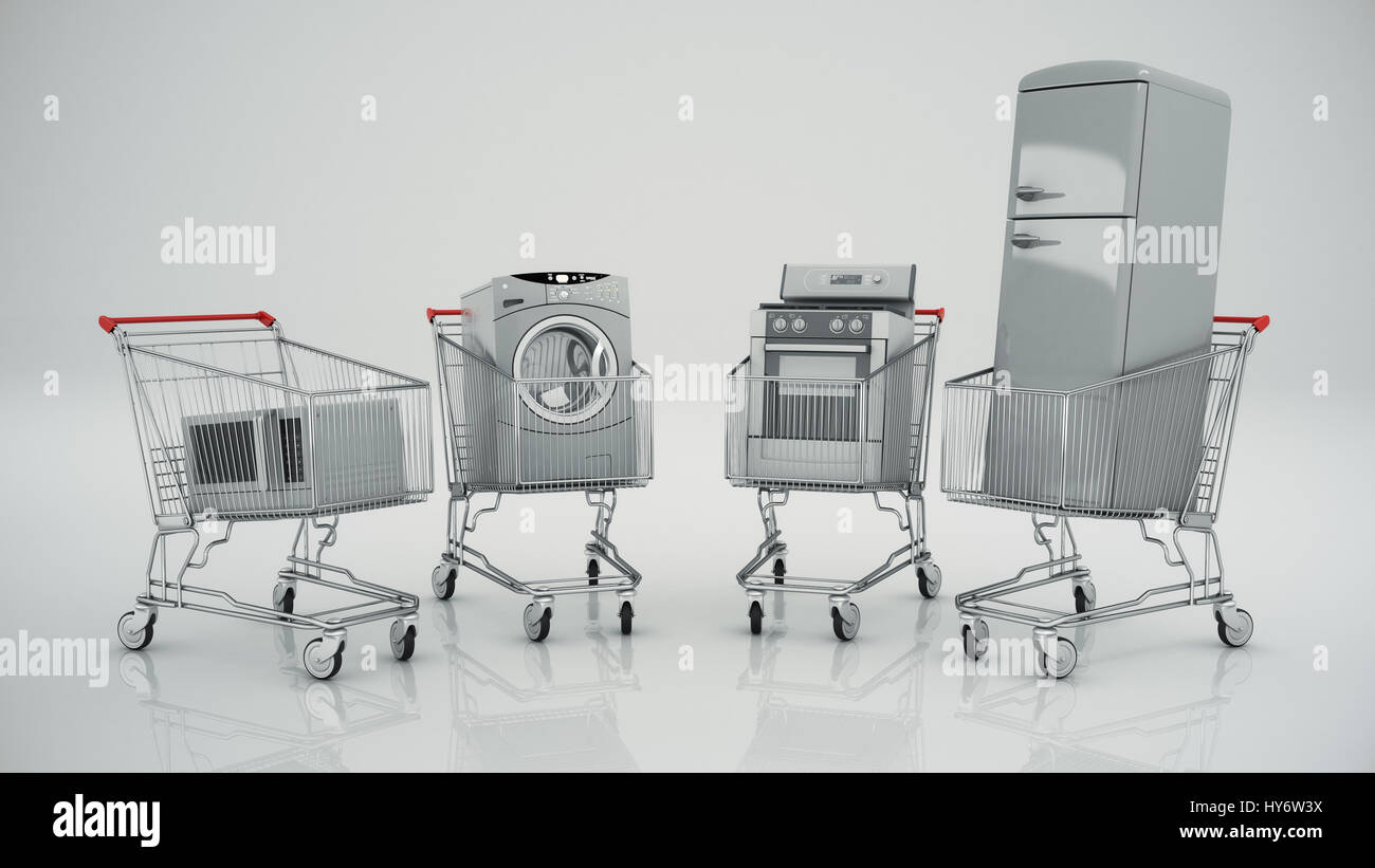 Kitchen Refrigerator House Appliances Concept Stock Photos
