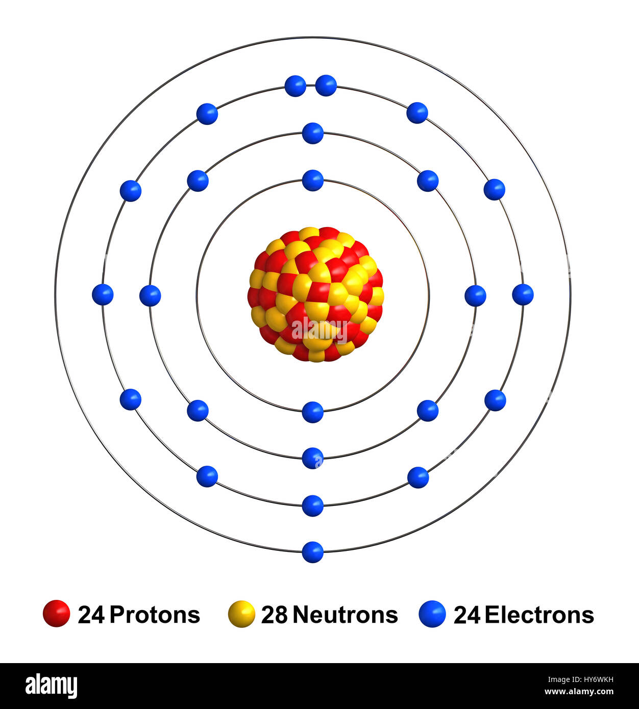 chromium atomic structure stock photos chromium atomic structure rh alamy com Iron Atom Diagram Atom Diagram with Labels