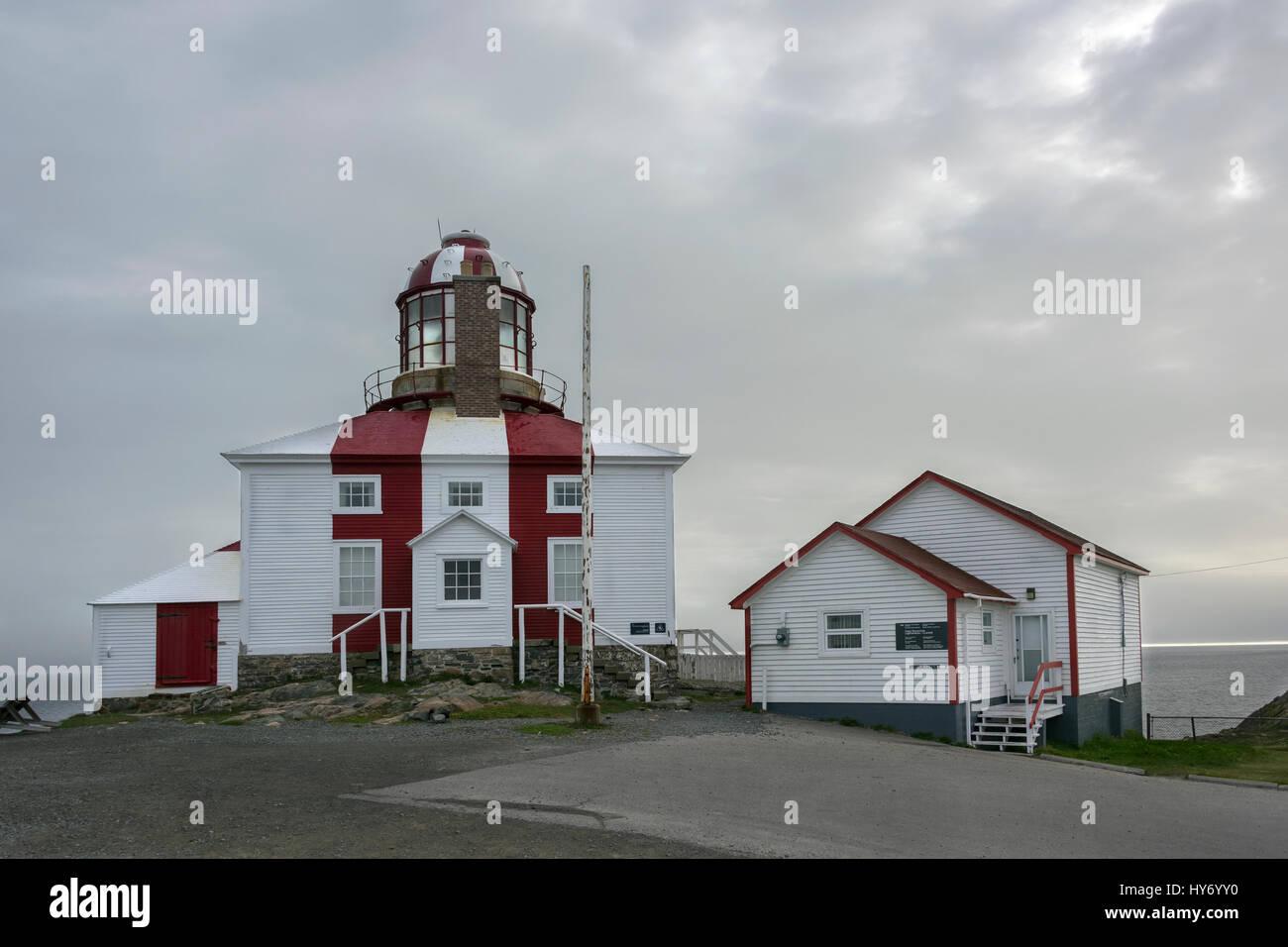 Early morning, Cape Bonavista Lighthouse Provincial Historic Site, Bonavista, Newfoundland - Stock Image