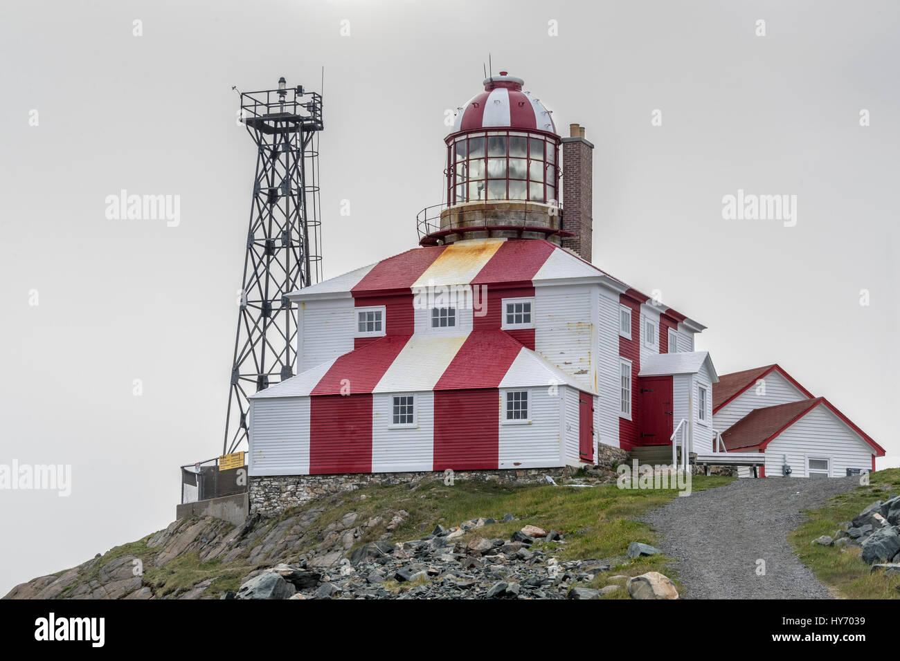 Cape Bonavista lighthouse, 1842, Provincial Historic Site, Bonavista, Newfoundland - Stock Image