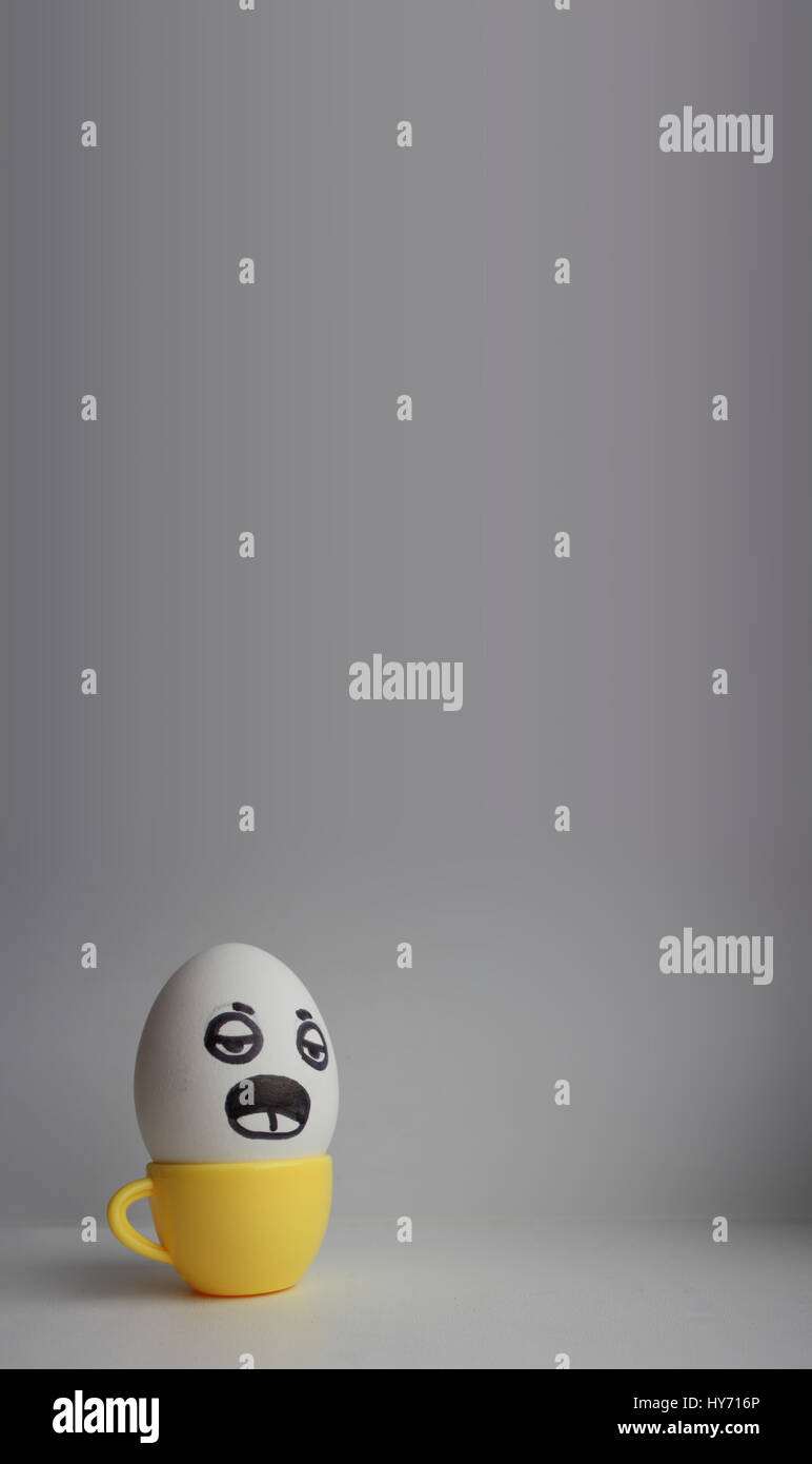 eggs with faces photo for your design with a place for text funny