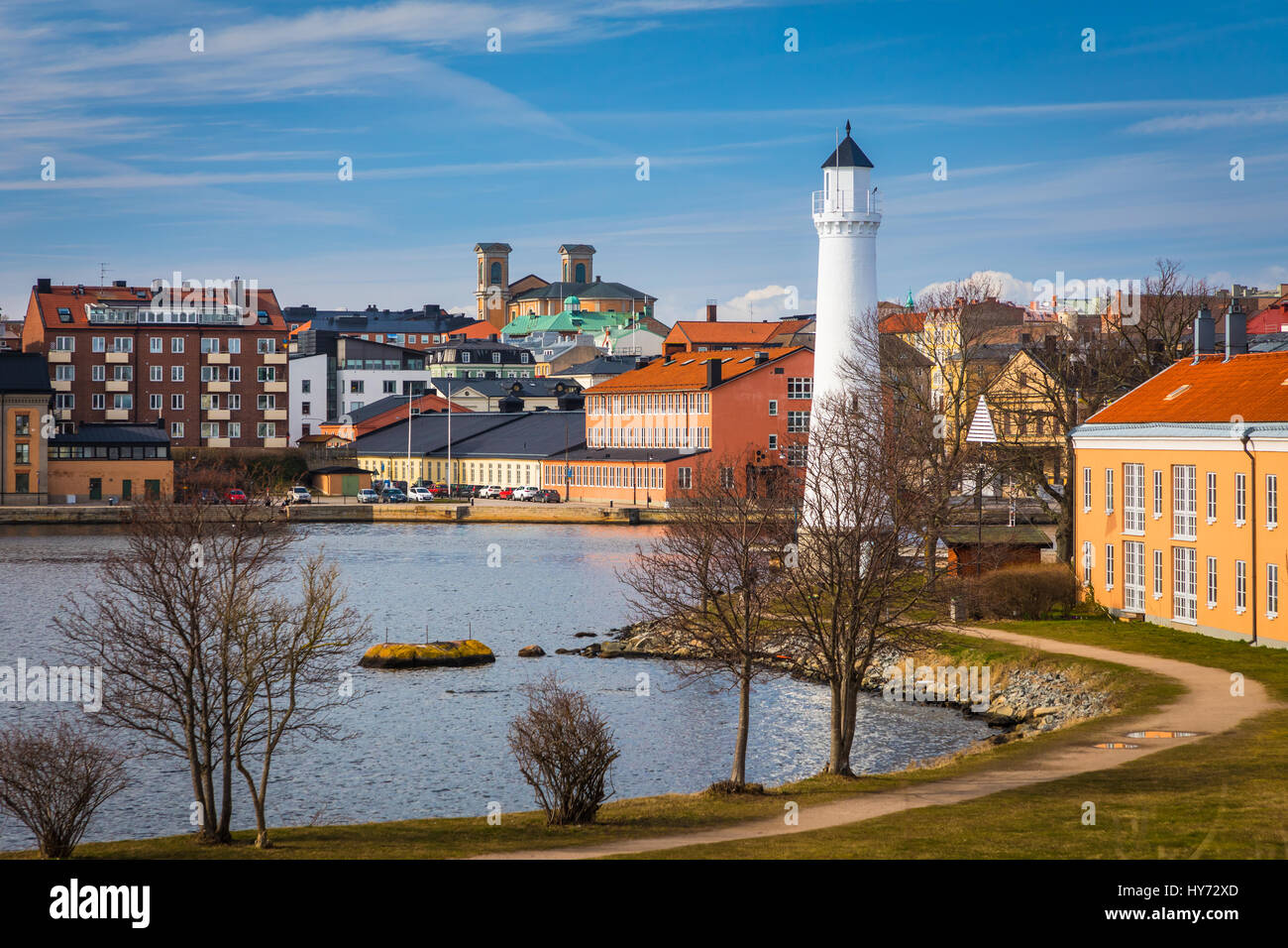 View of Karlskona, Sweden from Stumholmen island ..... Karlskrona is a locality and the seat of Karlskrona Municipality, - Stock Image