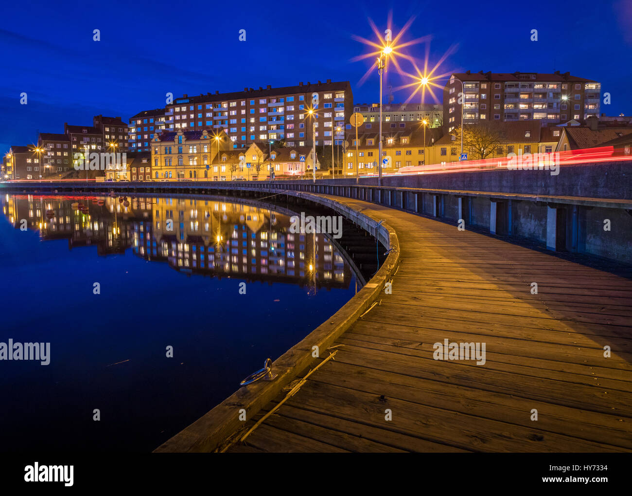 Urban buildings in Karlskona, Sweden ..... Karlskrona is a locality and the seat of Karlskrona Municipality, Blekinge - Stock Image