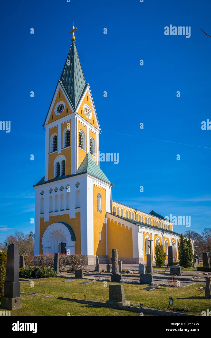 Bräkne-Hoby is a town in the southern Swedish province Blekinge. The Bräkne-Hoby church was built in 1868 - Stock Image