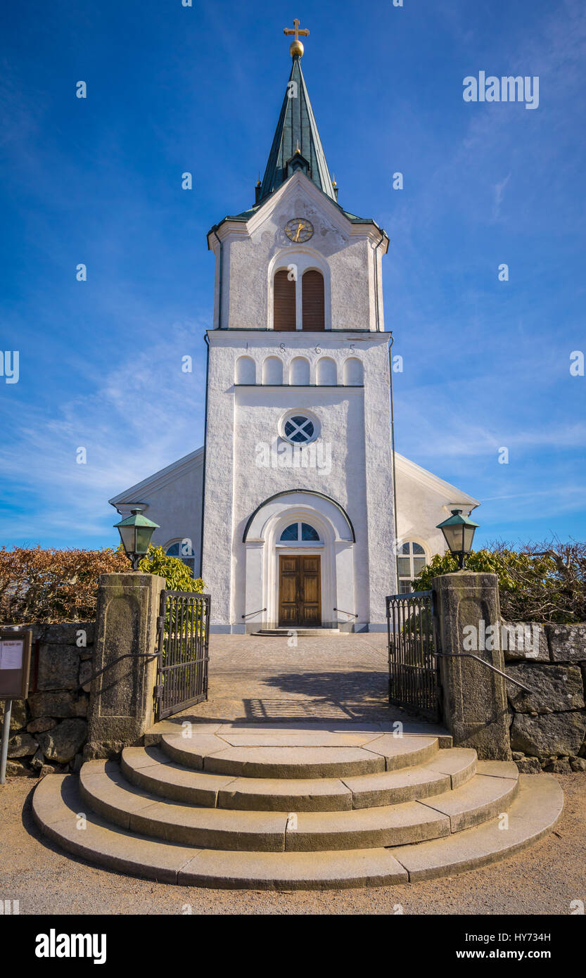 Kyrkhult church is the primary place of worship for the Kyrkhult congregation and is located in the center of Kyrkhult - Stock Image