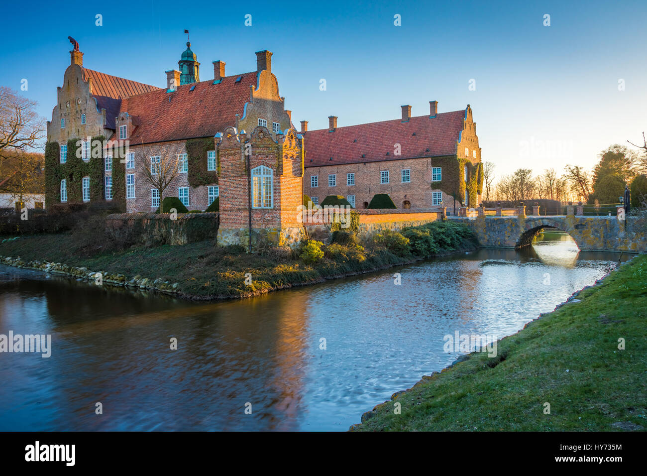 Trolle-Ljungby Castle (Swedish: Trolle-Ljungby slott) is a castle in Kristianstad Municipality, Scania, in southern - Stock Image
