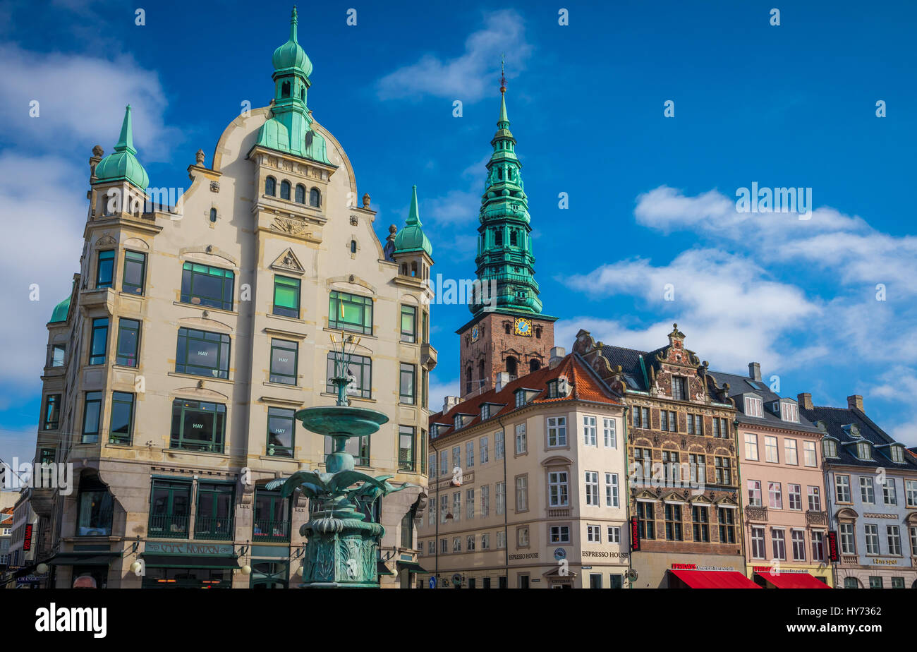 Amagertorv (English: Amager Square), today part of the Strøget pedestrian zone, is often described as the most - Stock Image