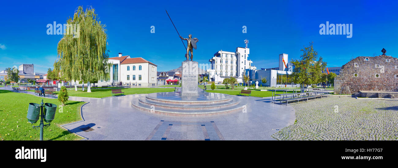 Prilep, Macedonia - Alexander the Great Monument - Stock Image