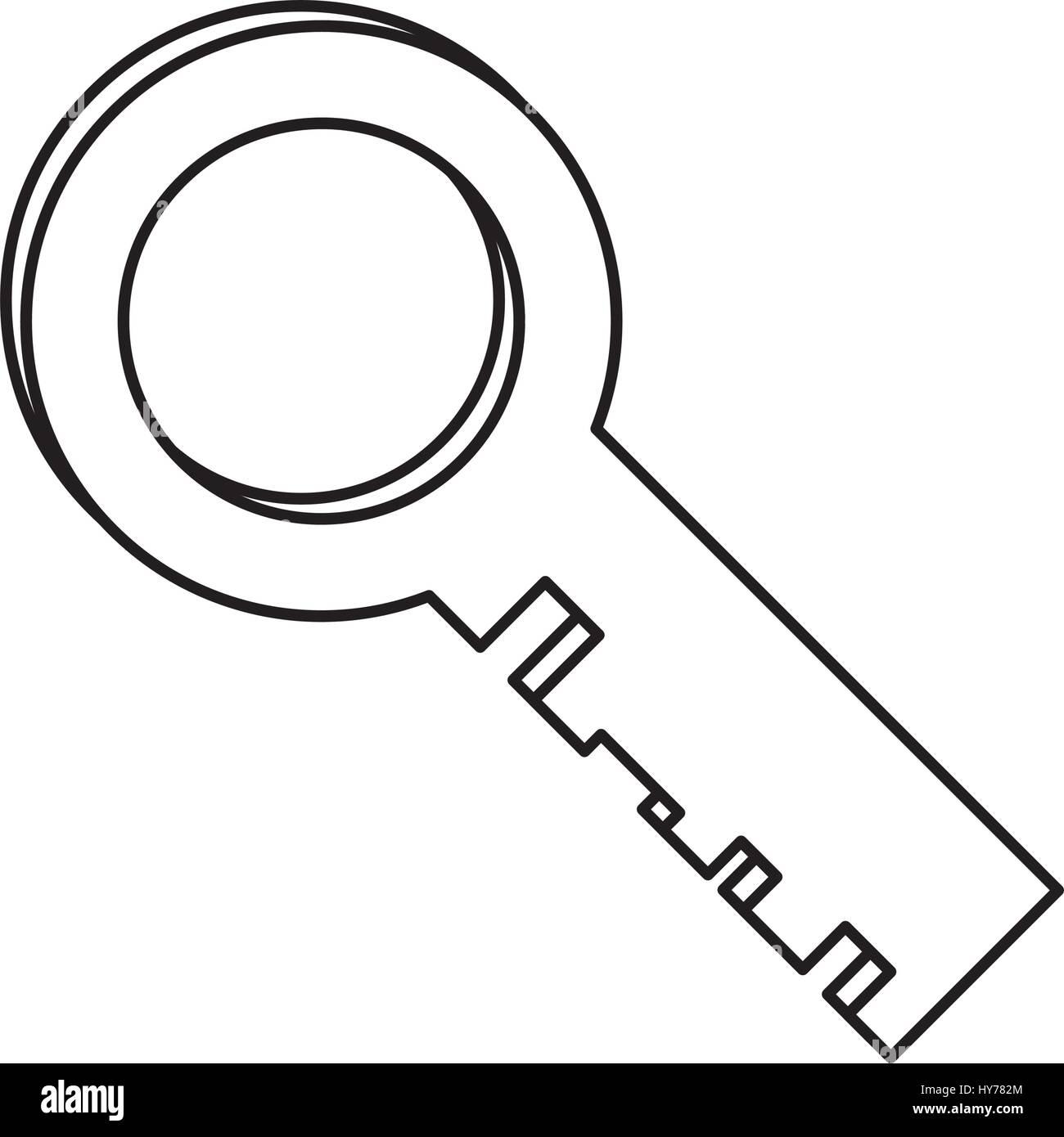 key security golden - Stock Image