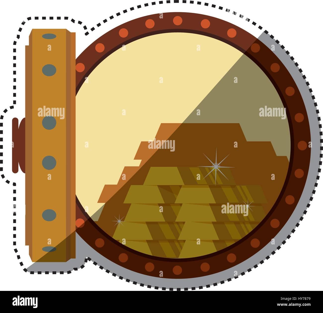vault safe deposit bank gold - Stock Image