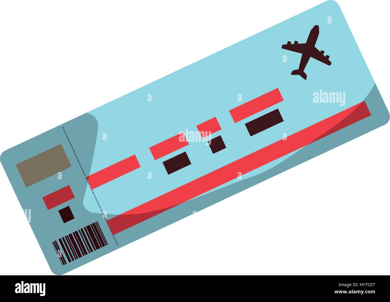 Flight Ticket Paper Vector Icon Illustration Graphic Design