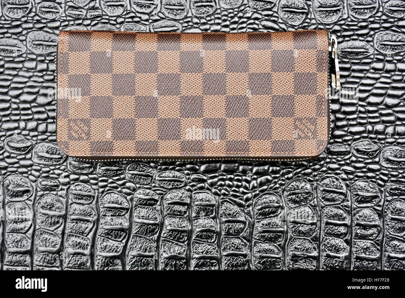 Louis Vuitton zippy wallet Stock Photo