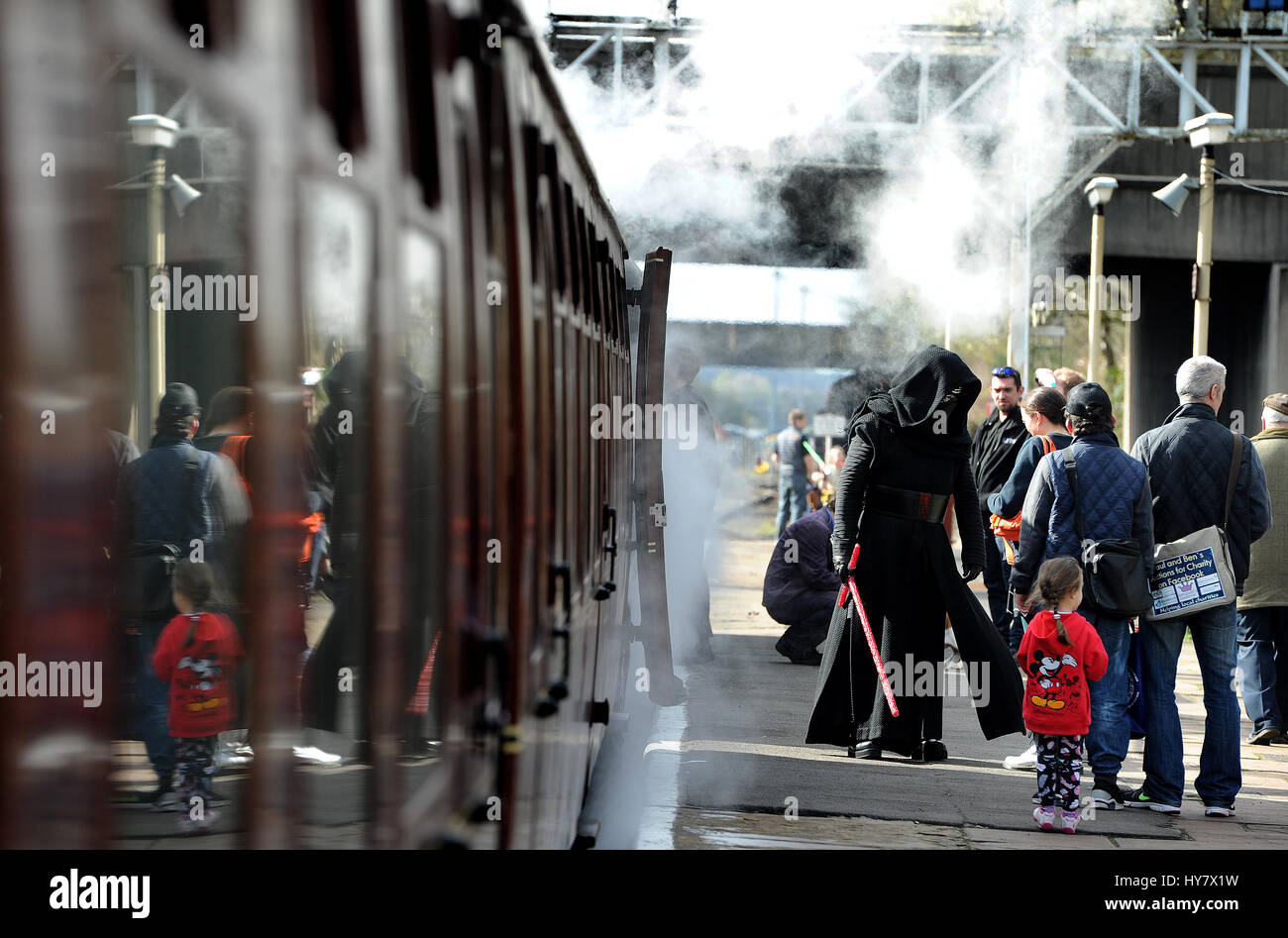 Bury, Lancashire, UK. 02nd Apr, 2017. It's steam... but not as you know it at the annual Sci-Fi On The Sidings - Stock Image