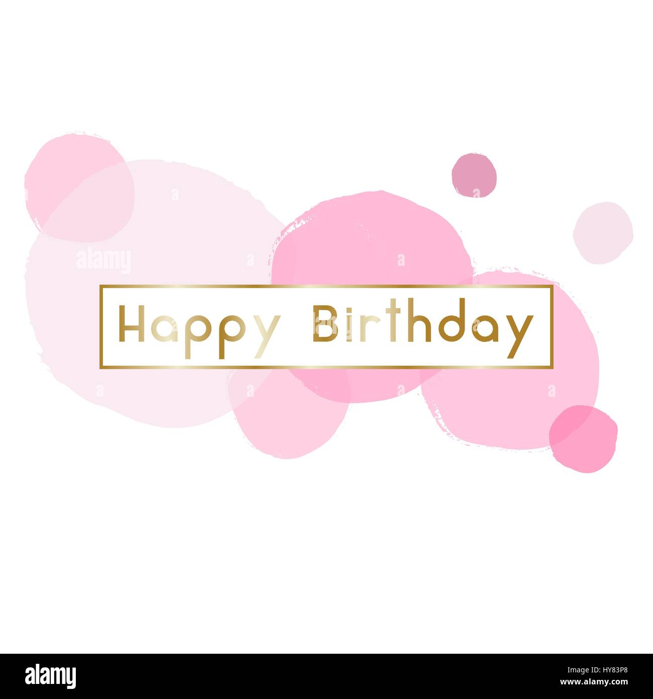 Birthday greeting card design with text happy birthday in gold and birthday greeting card design with text happy birthday in gold and pink bubbles in the background m4hsunfo