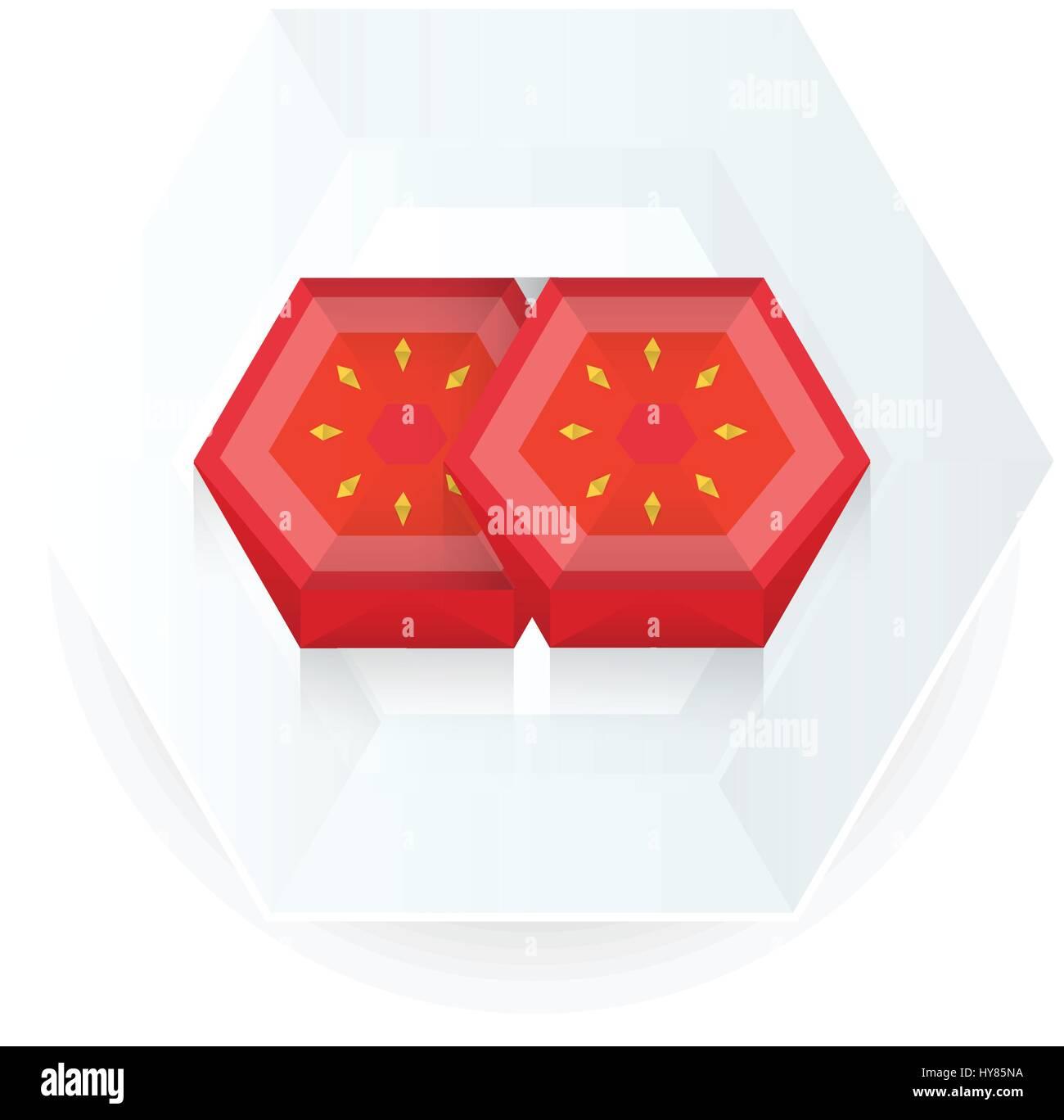 Sell Box Tomato 3D Origami Icon Stock Image | VectorGrove ... | 1368x1300