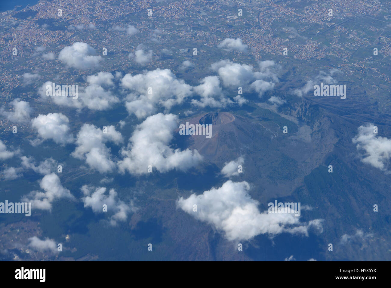 Volcano, Vesuvius, Italy, Vulkan, Vesuv, Italien - Stock Image