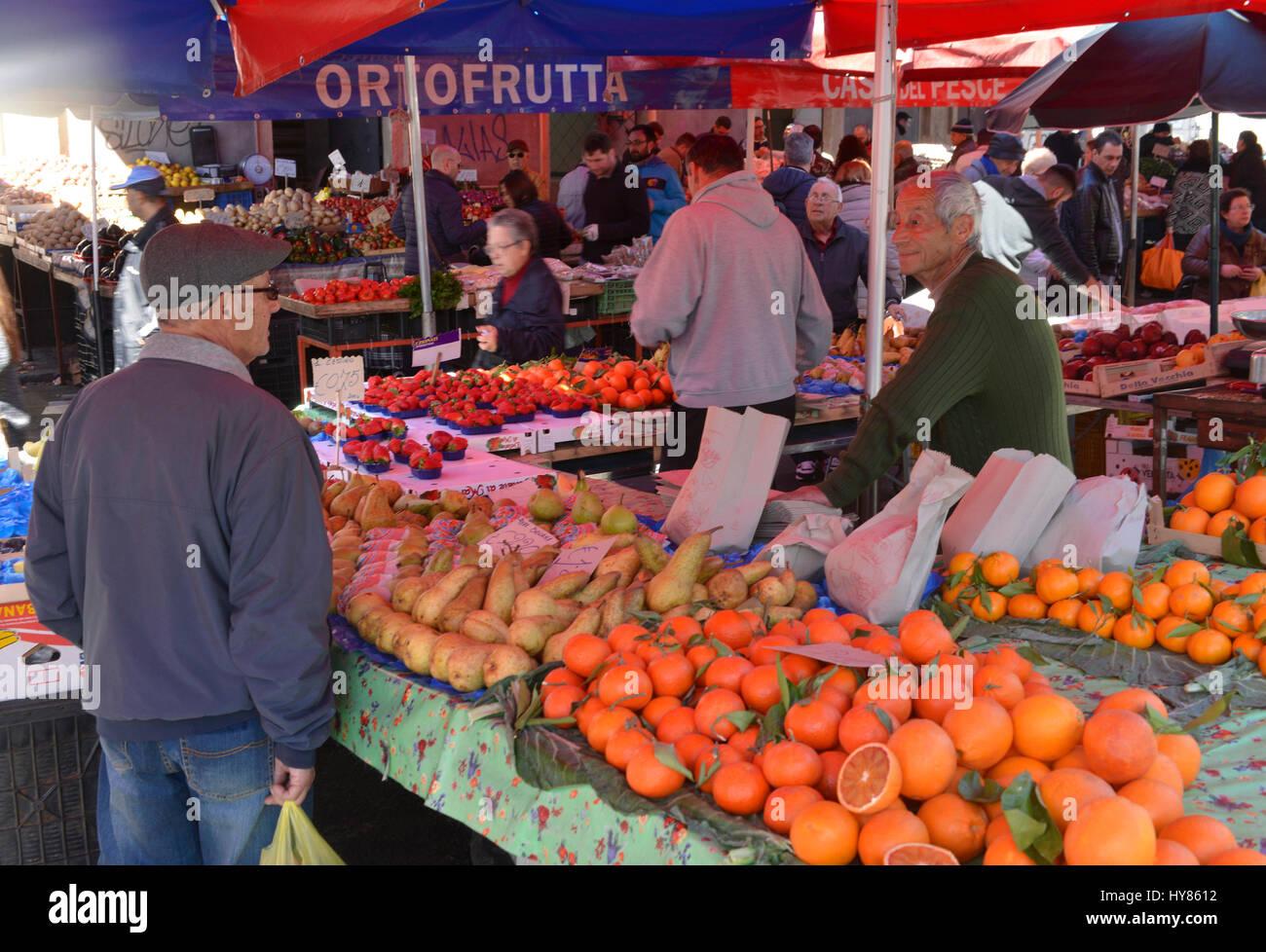 Fruits, weekly market, Piazza Carlo Alberto di Savoia