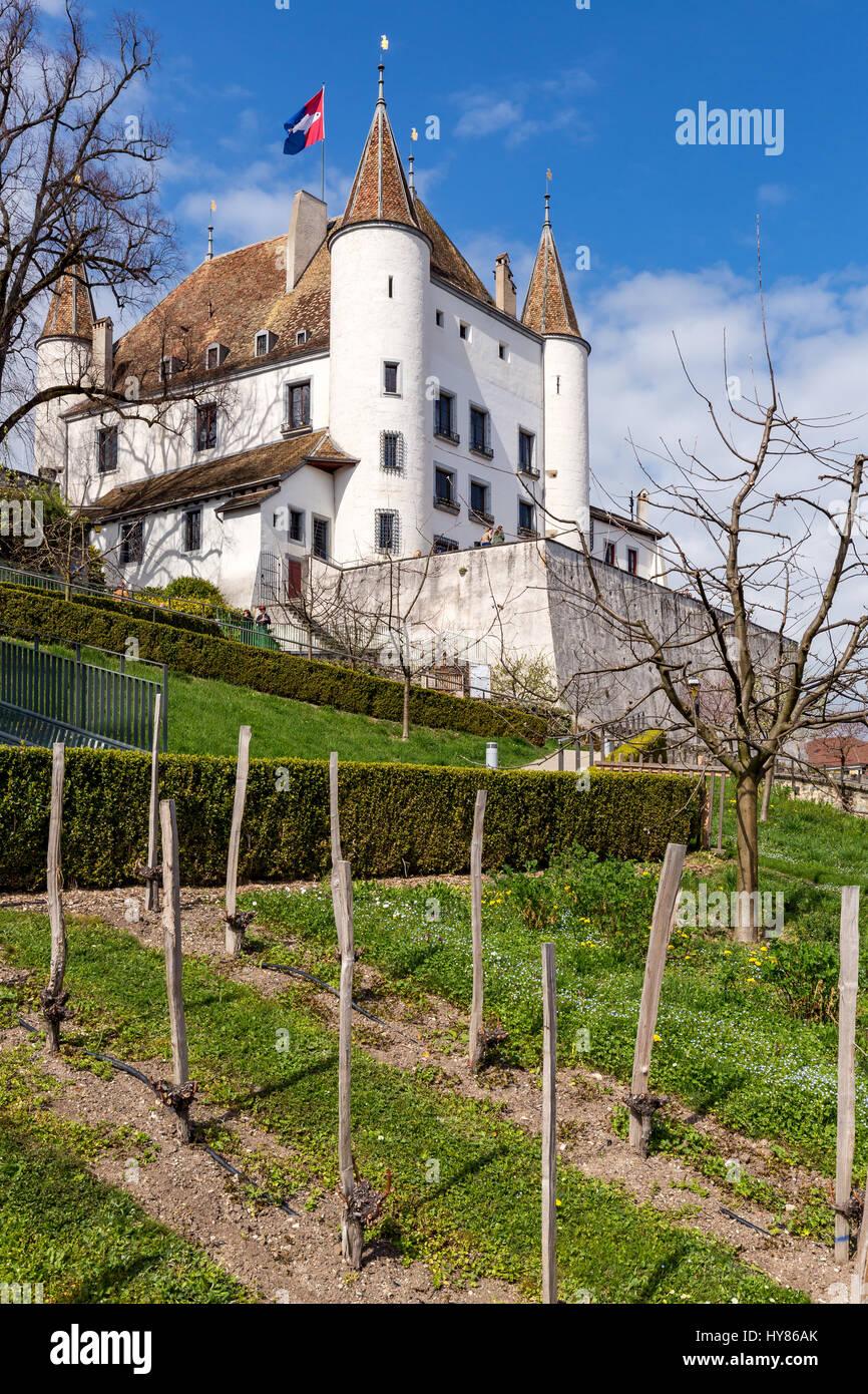 Nyon Castle, Nyon, Canton of Vaud, Switzerland - Stock Image
