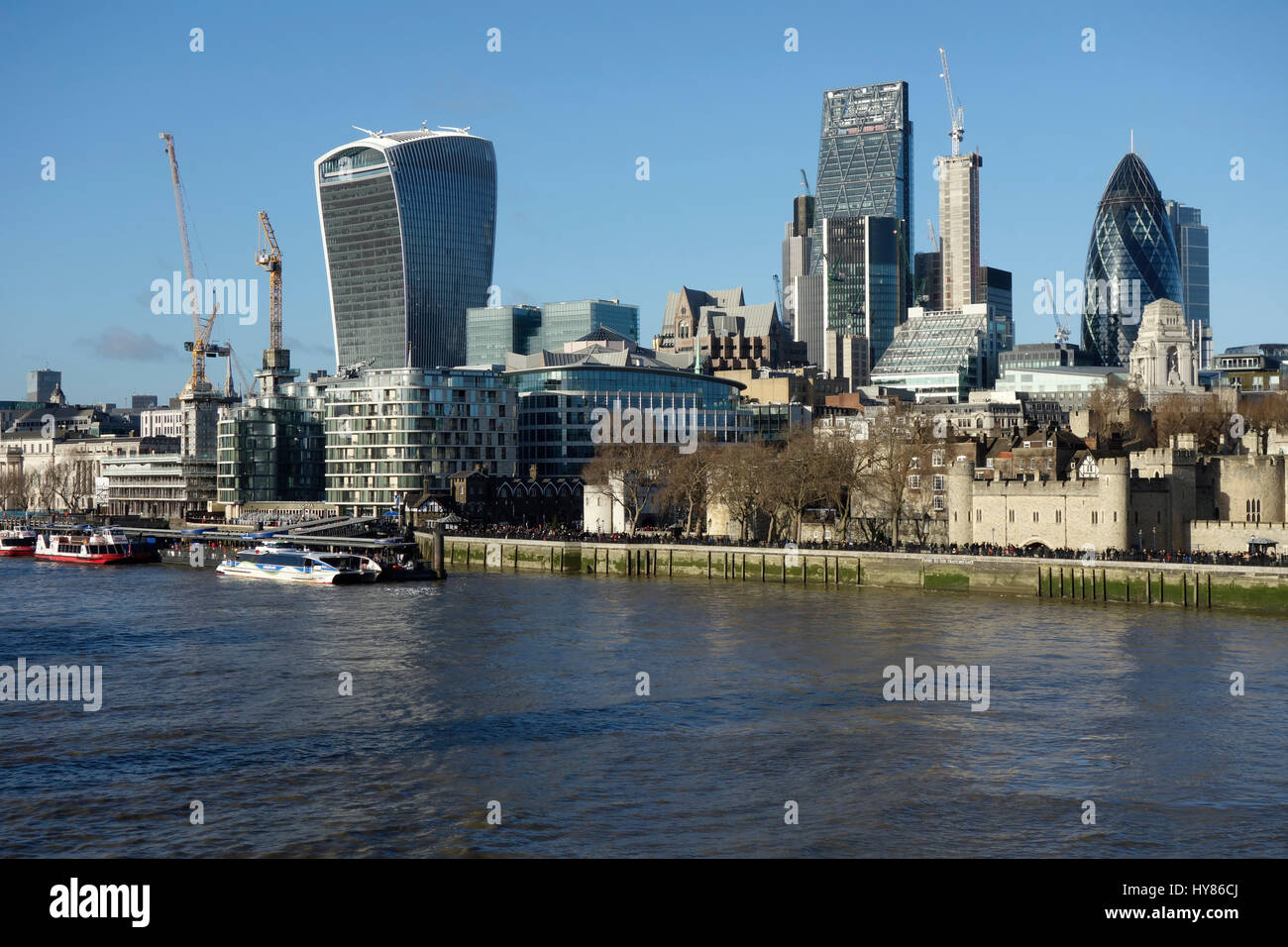 City of London Skyline, UK. - Stock Image