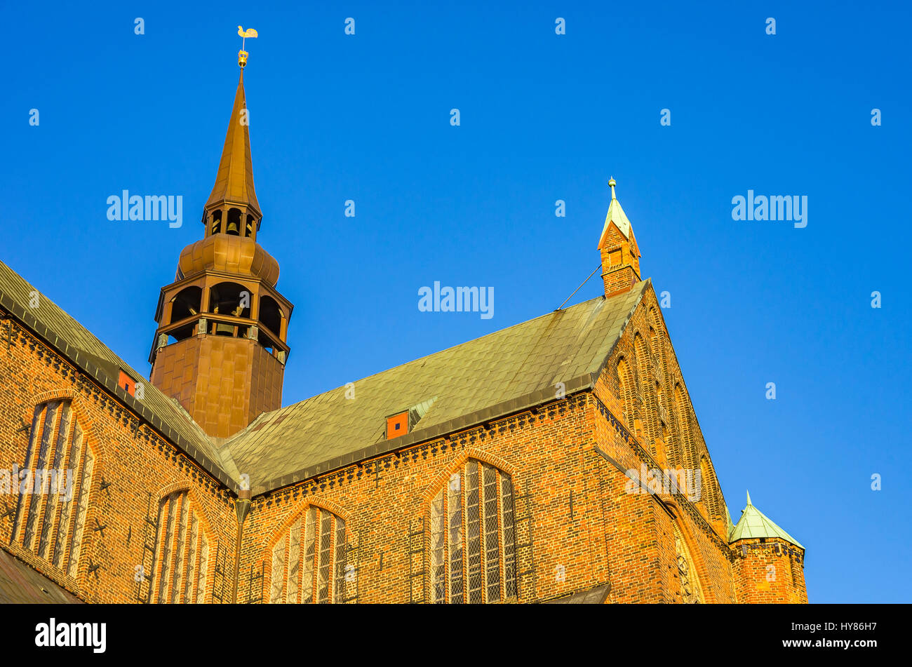 View of St. Mary's Church in the Hanseatic City of Stralsund, Mecklenburg-Pomerania, Germany. Stock Photo