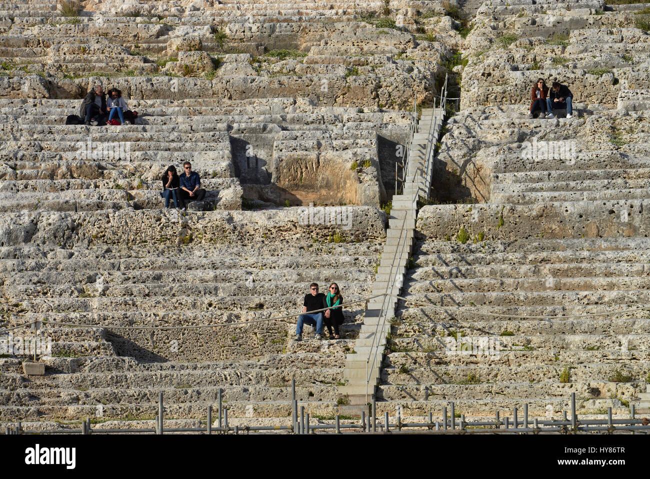 Teatro Greco, Neapolis, Syracuse, Sicily, Italy, Syrakus, Sizilien, Italien Stock Photo