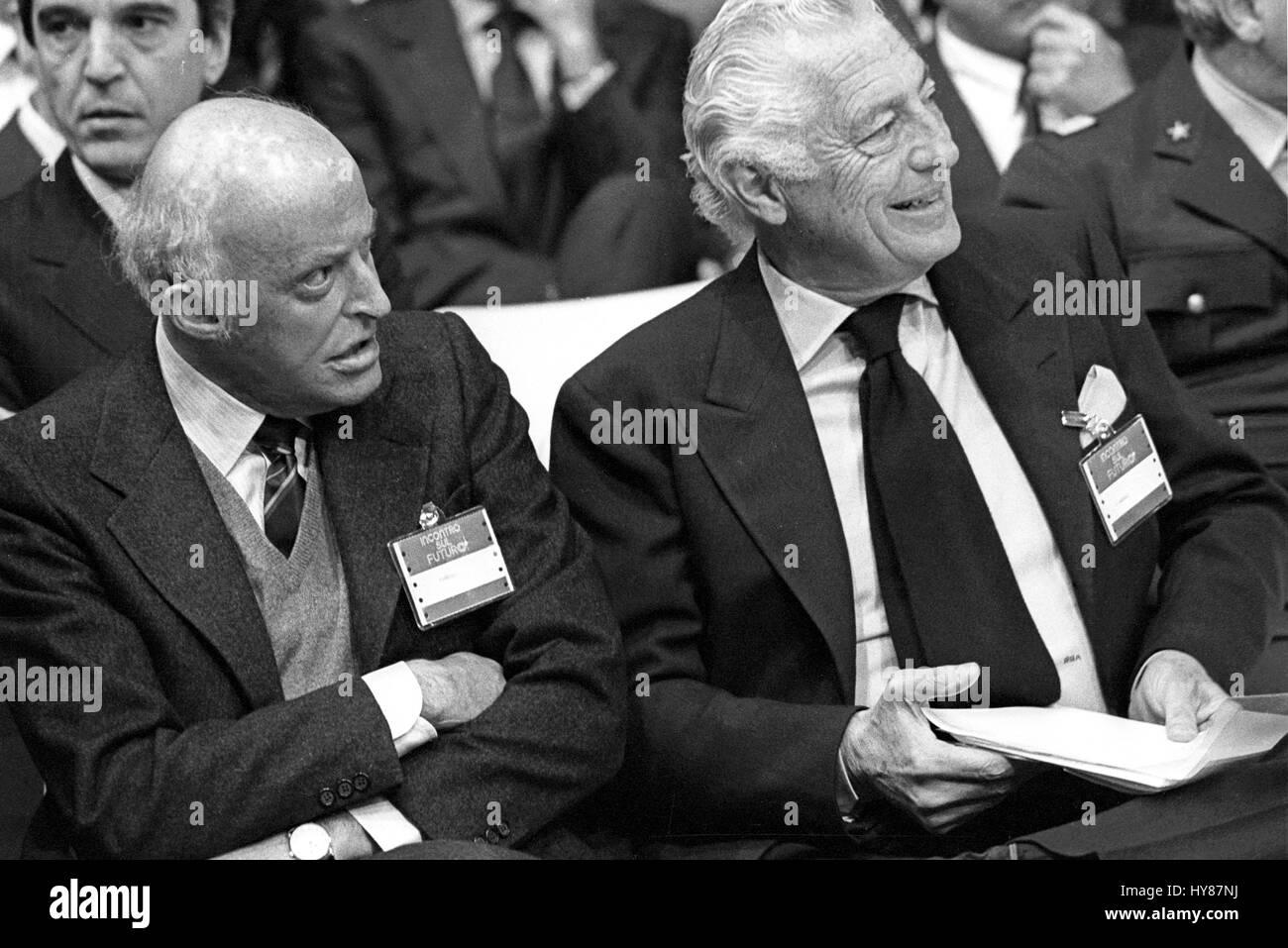 Leopoldo Pirelli, president of Pirelli company with Gianni ...