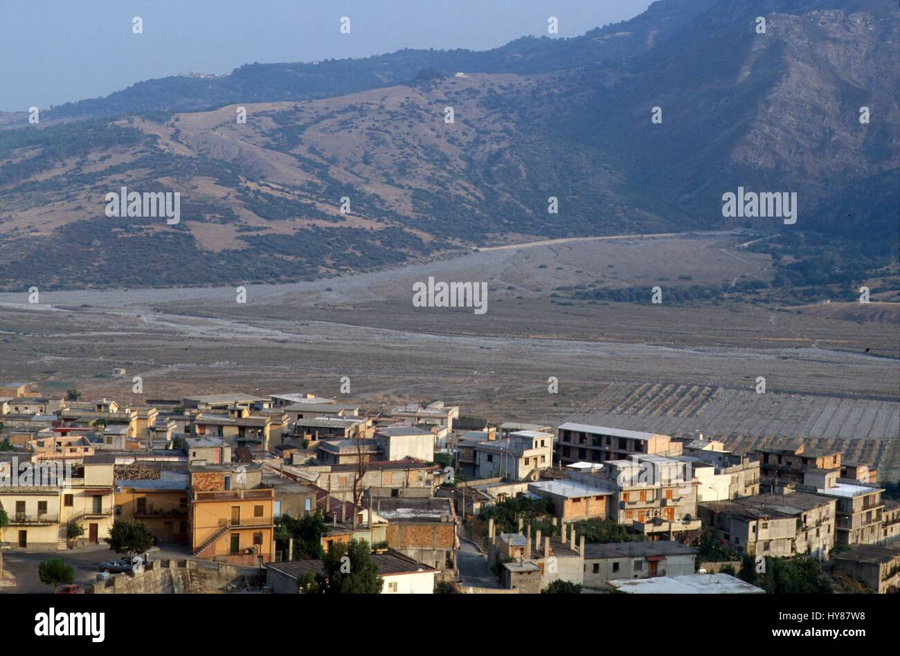 the village of San Luca (Reggio Calabria), home of the most important clans of  Calabrian 'Ndrangheta (organized - Stock Image