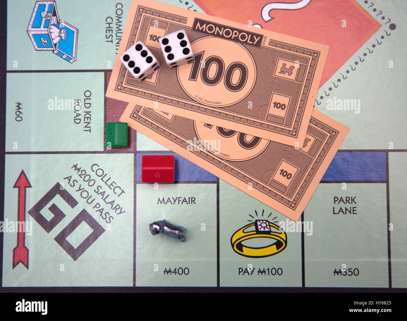 Monopoly remains a popular board game, London - Stock Image