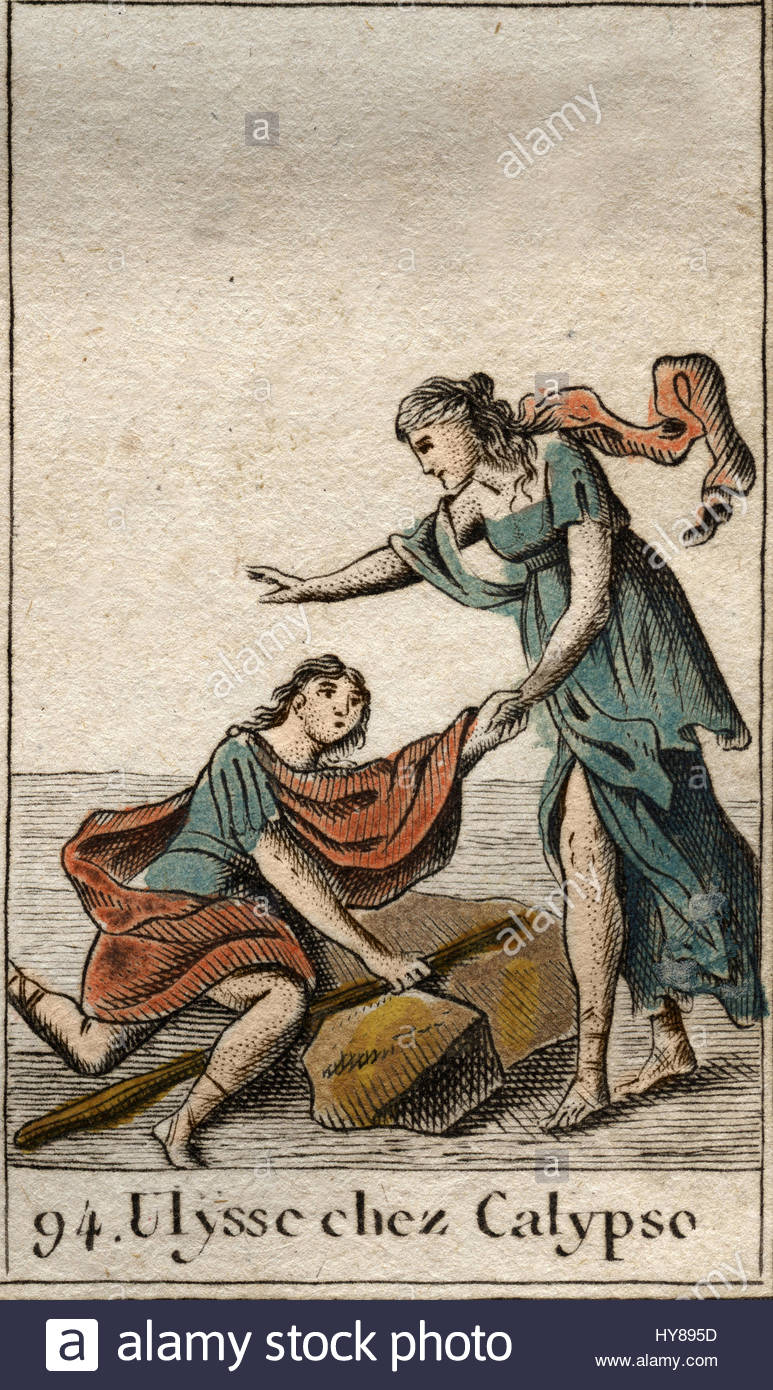 Homers Odyssey Odysseus Discovered By Calypso The Nymph On Her Island From Mythologie
